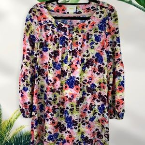 Maeve Bell Sleeve Boho Floral Top with Buttons
